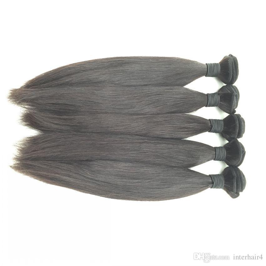 حر ثلاثة أجزاء الأوسط مستقيم عذراء البرازيلي الرباط أمامي الإغلاق مع 3 حزم شعر الإنسان نسج رخيصة البرازيلية لحمة على التوالي