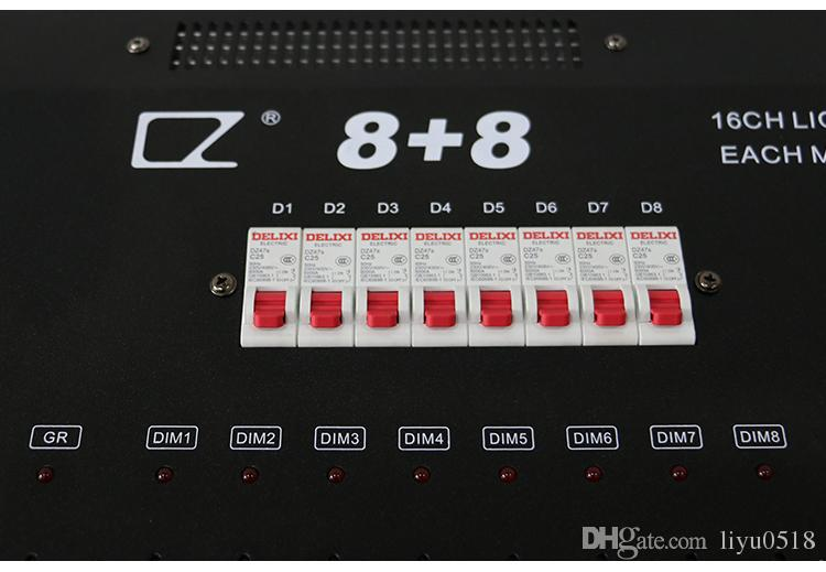 High quality new stage equipment 8 and 8 DMX 16 channels dmx decoder stage light dmx dimming console with