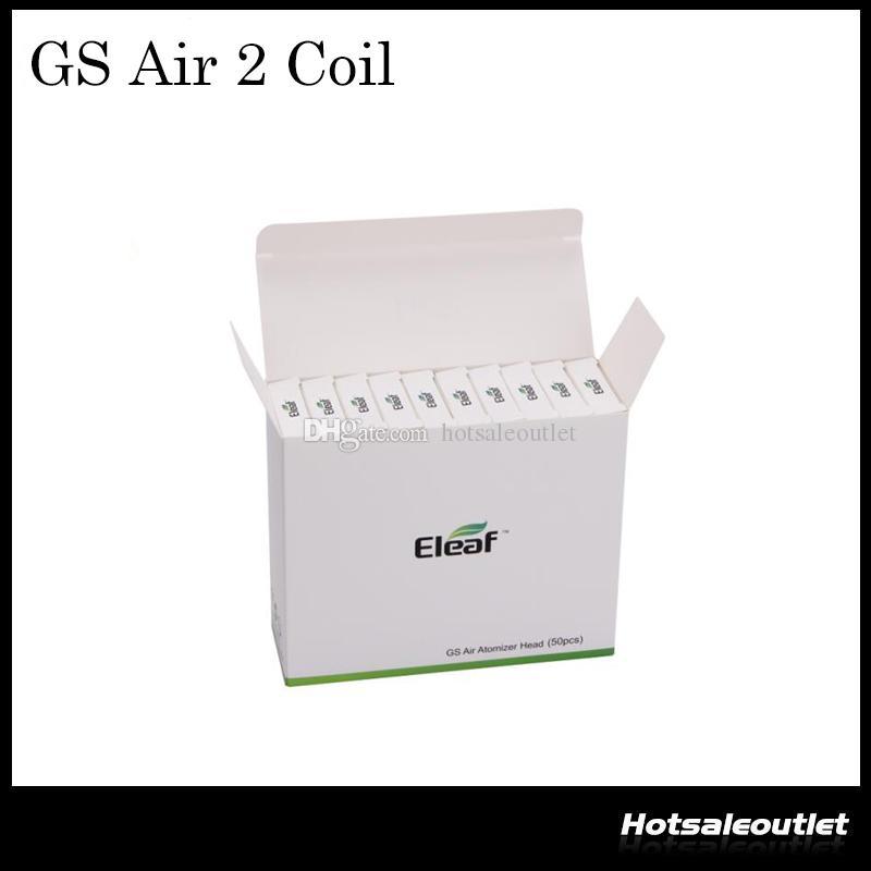 Подлинная головка Eleom GS Air Atomizer из чистого хлопка с запасной катушкой 0,75 Ом Fit Атомайзер GS Air / GS Air 2