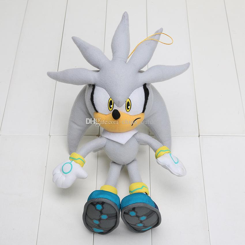 Free shipping Plush Toys 32cm gray Sonic The Hedgehog Plush Doll Soft Stuffed Figure Doll Kids Gift