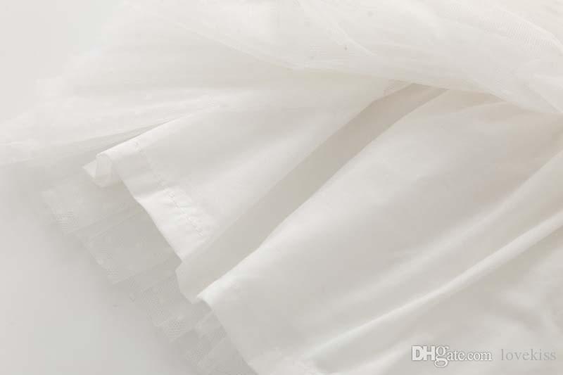 Mädchen Tops Blusen Rüschen Prinzessin Kurzarm T Shirts Mädchen Kleid 2016 Frühling Weißes Hemd Kinder Kleidung Kinder Kleidung Lovekiss C23542