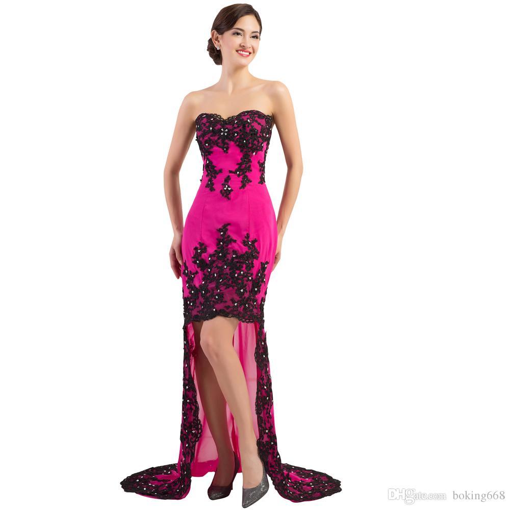 Ziemlich Kurze Rote Und Schwarze Prom Kleider Ideen - Brautkleider ...