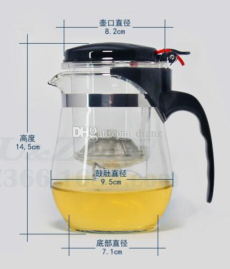 Neu kommen 500ml hitzebeständiges Glasteetopf-Blumen-Tee-Satz Puer-Kessel Kaffee-Teekanne an