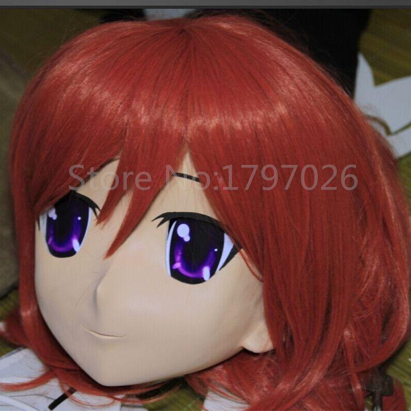 Chegada nova Handmade Feminino Letax Rosto Cheio Anime KIG Máscara Cosplay Kigurumi Crossdresser para Fetish papel