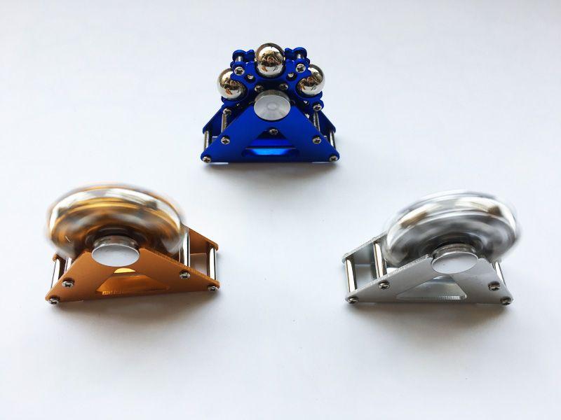 Chegada nova Metal Ferris Roda Fidget Spinners Spinner Machined com Bolas De Aço Liga de Alumínio Mão Spinners Descompressão Brinquedo um conjunto