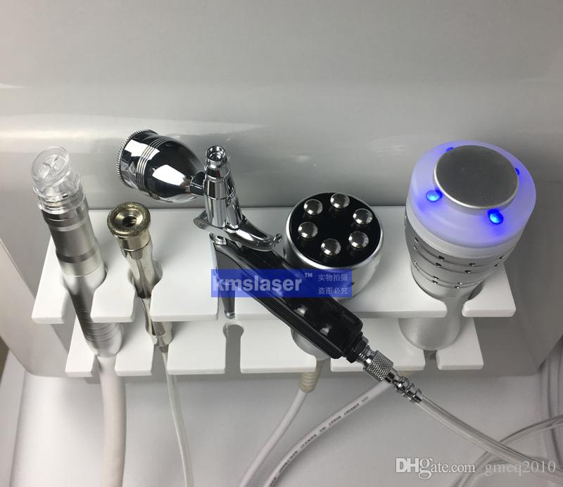 Allemand pompe muette pas de bruit écran tactile 5 en 1 eau dermbrasion Cold hammer RF hydra facial haute machine de rajeunissement de la peau sous vide