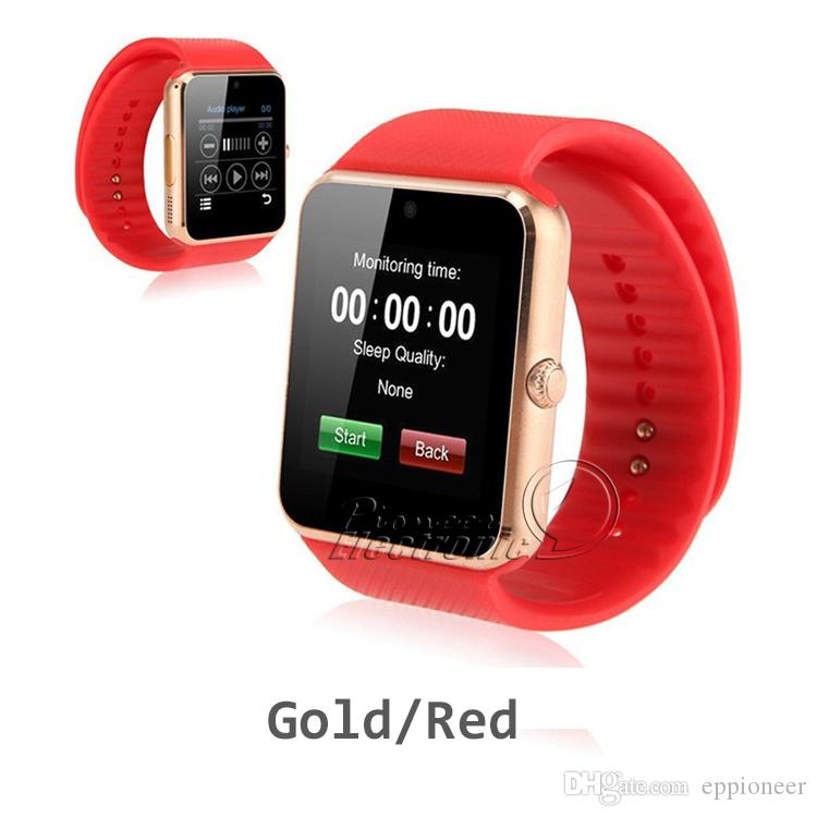 GT08 Orologio Bluetooth smart con SIM Card Slot e NFC Salute Watchs Android Samsung e IOS di Apple iPhone Smartphone Bracciale Smartwatch