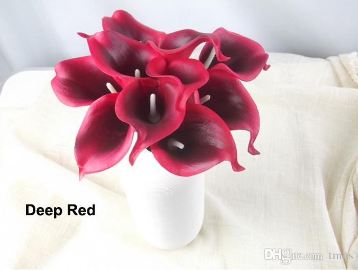2020 Dhl Free Real Touch 15 Artificial Calla Lily Flower Bouquet