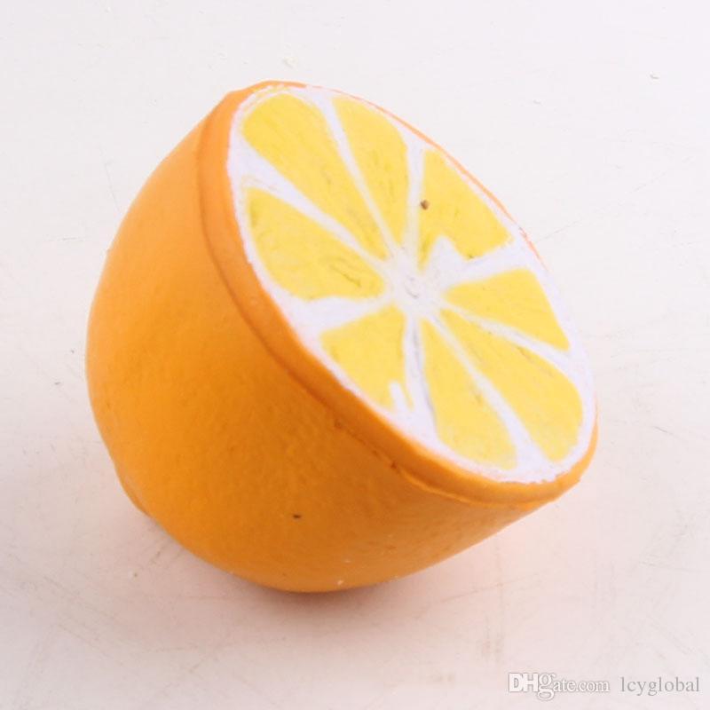 Nueva Llegada 6.3 CM kishaii lindo limón squishy Slow Rising rebote juguetes de descompresión con cadena Con colorido Opp Bag