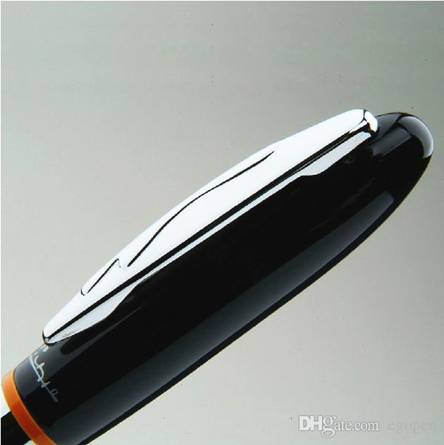Lujo de Alta Calidad Top Branding Negro Roller Bolígrafos Bolígrafo Gel Pluma Sign plumas Picasso Series 907