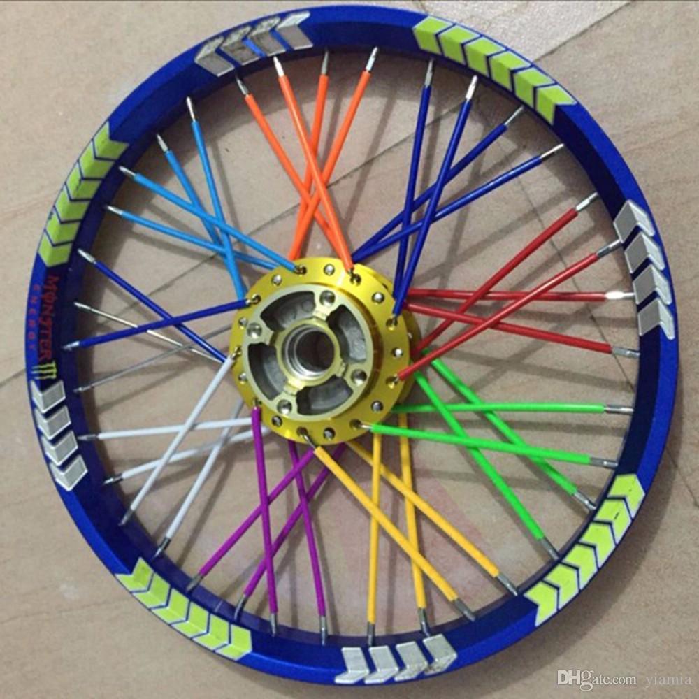 72-Pack Bisiklet Motosiklet Dağ Bisikleti MTB Tekerlek Modifikasyon Spokes Kol Tüp Emniyet Clip Snap-on Tüp Emniyet 6 Renkler uyar