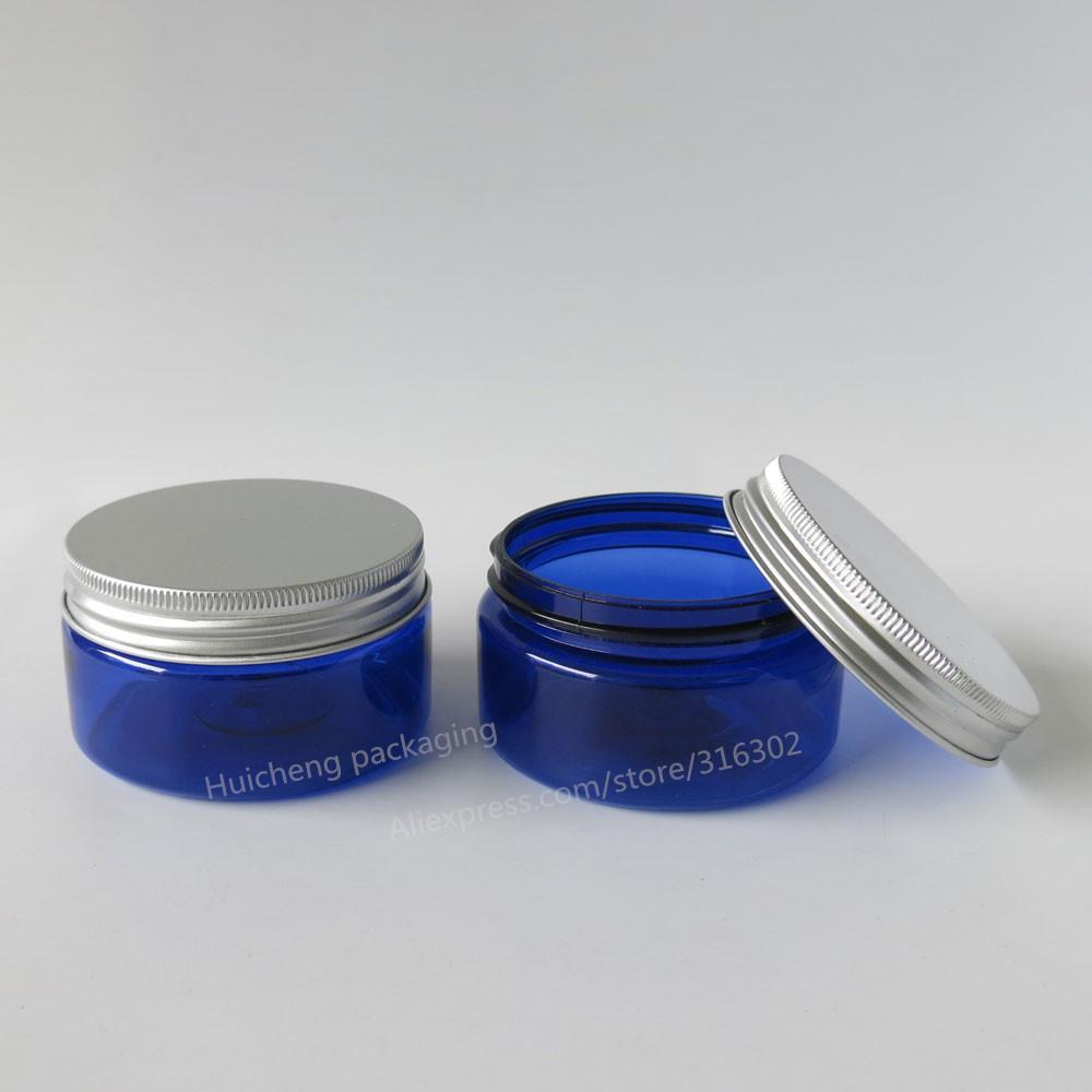 Best Quality Wholesale Bulk 20x 100g Cobalt Blue Medium Plastic Cosmetic  Jar Packaging With Seal Silver Aluminum Cap At Cheap Price, Online Arts And  Crafts ...