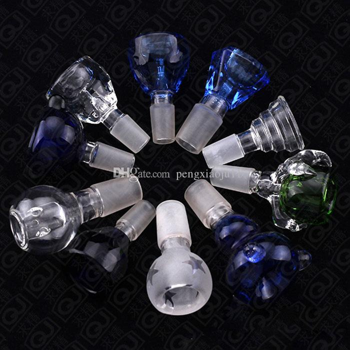 Free DHL Cheapest 18mm and 14mm quartz nails and color glass bowl for Glass water pipes bongs glass bong pipes