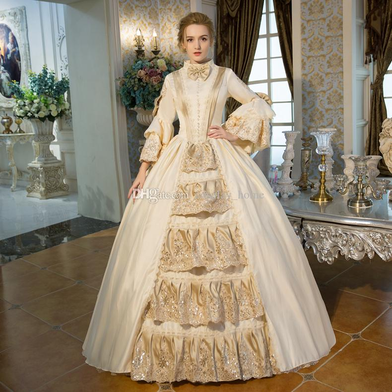 8f0c2a00806d5 2019 Customized 2016 Hot Sale Champagne Bow Dance 18th Century Queen Victorian  Marie Antoinette Dress From Cosplay_home, $90.46 | DHgate.Com