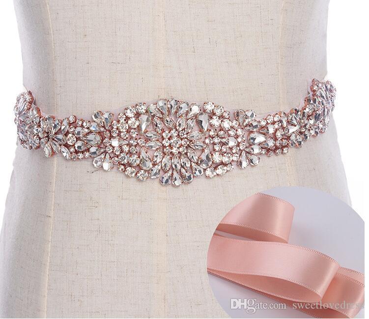 송료 무료 신부 웨딩 액세서리 결혼식 띠를위한 절묘한 무거운 구슬 모조 다이아몬드 결정 결혼식 벨트 싸구려