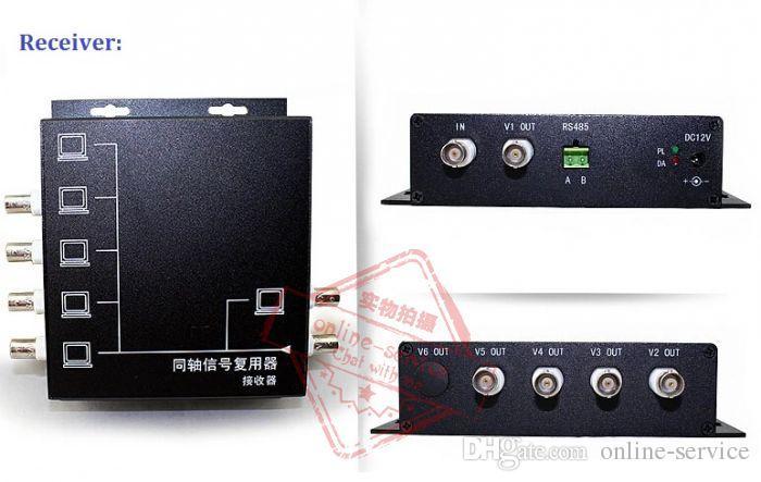 RS485 Veri ile DHL Ücretsiz CCTV 5CH Video Çoklayıcı Verici / Alıcı Koaksiyel MUX Modülatör