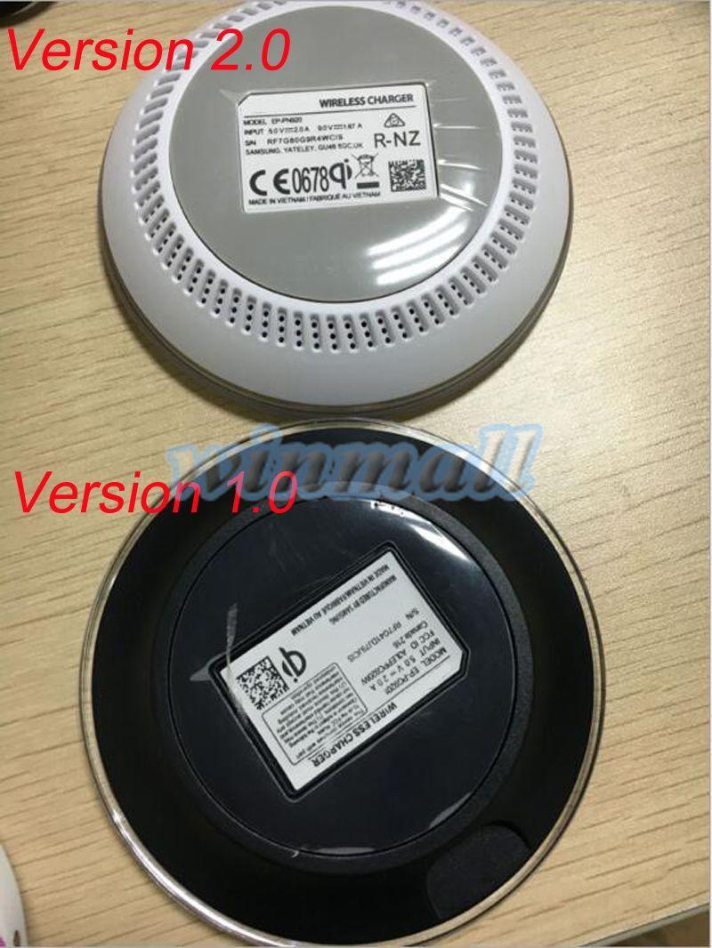 Version 2.0 S6 Qi sans fil chargeur chargeur plaque de charge pour Samsung S6 Edge / S7 / S7 edge / Note 5