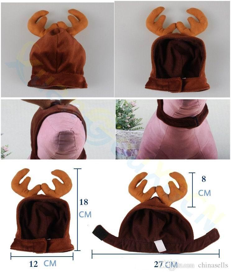 cool design cute Xmas elk Christmas party gift puppy costume cap Headdress dog cat Santa Claus hat Ornaments pet Accessories