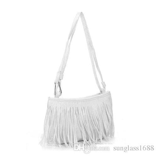 2016 Hot Sales Fashion Women tassels Fringe Faux Suede Shoulder Messenger Cross body Bag Handbag Purse PU Leather Bx7