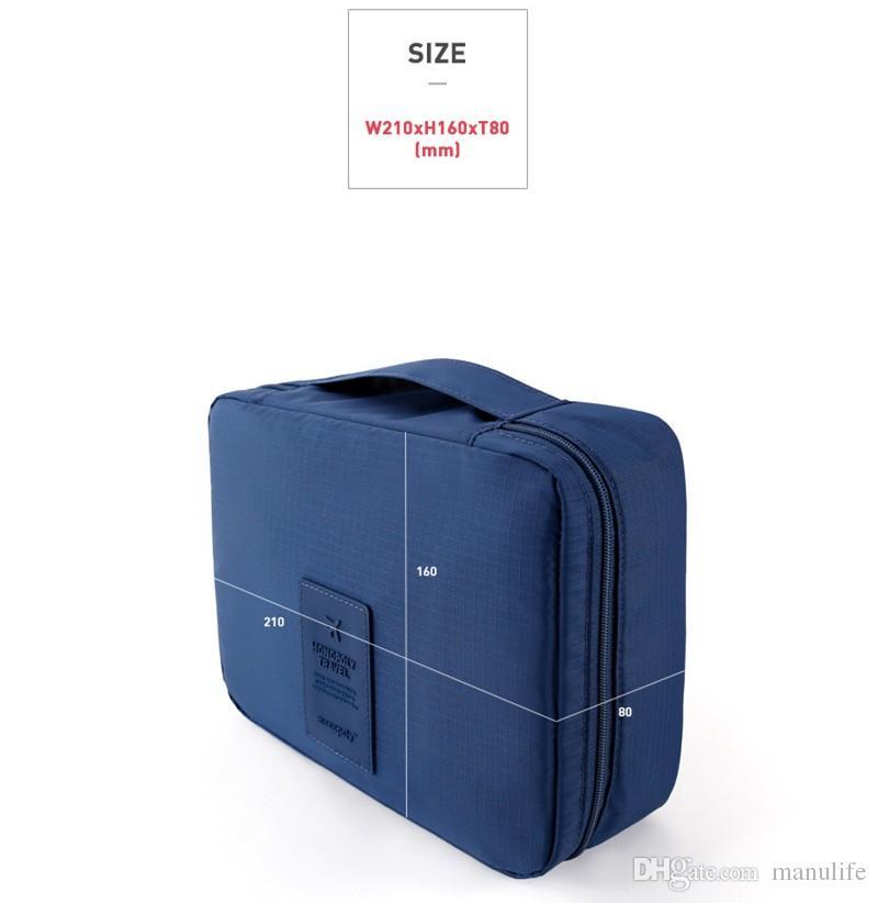 waterproof Nylon mesh traveling large capacity wash bag multifuctional makeup toiletry cosmetic bag size 21*16*8CM