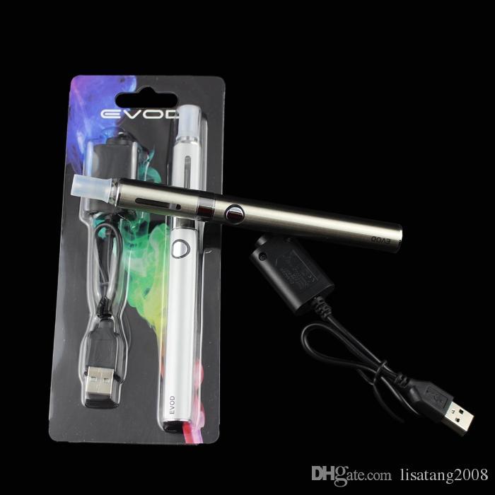 EVOD MT3 Blister kit eGo starter kit singoli kit e cig sigarette 650mah 900mah 1100 mah EVOD batteria MT3 atomizzatore