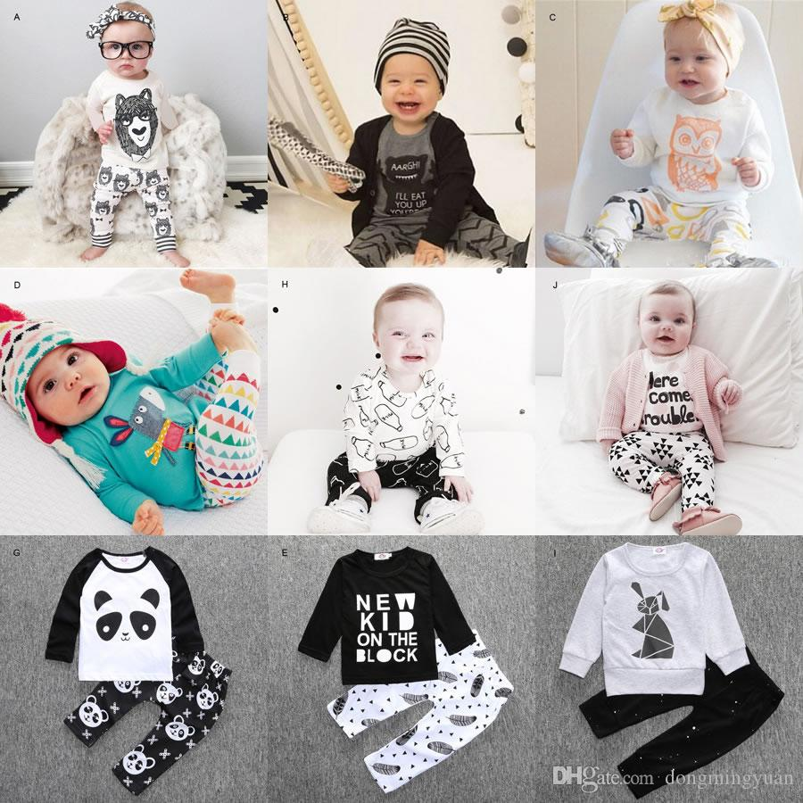 00efcd1202f8 2016 New Autumn Baby Set Boy Girl Casual Suit Tracksuit Clothing Ins ...