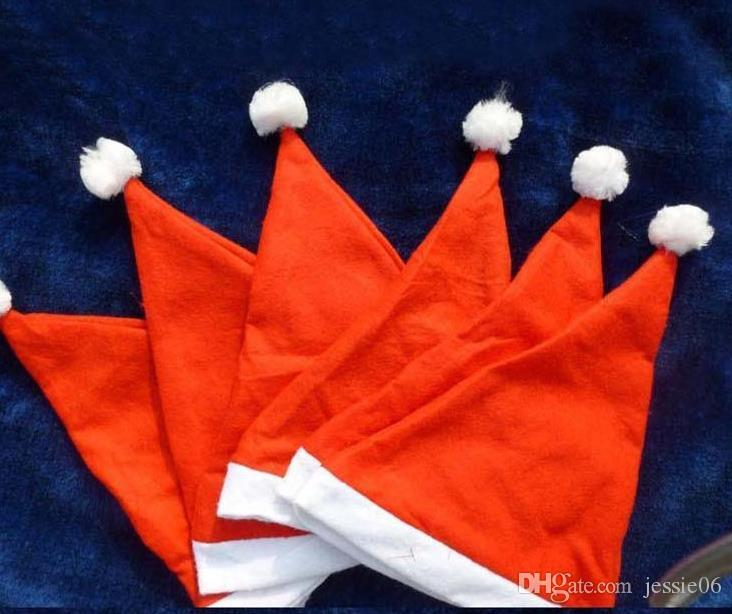 XMAS Party hats Santa Claus red caps children kids adults Christmas Hats Non Woven Christmas Decoration Cosplay props festive party supplies