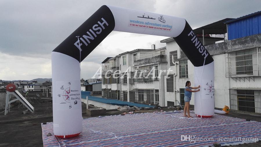 personalize o meta inflável do arco do começo de um ângulo de 20 pés com o ventilador de ar livre para raças