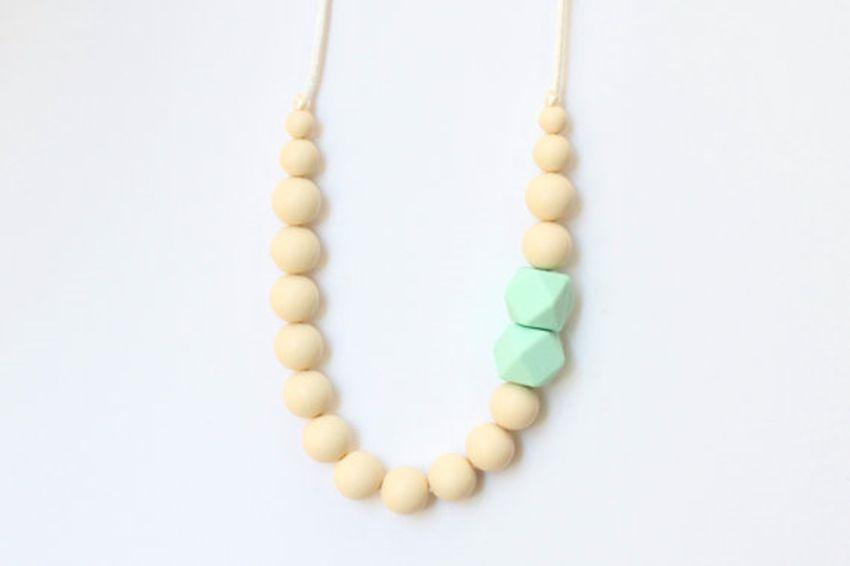 2016 FDA Silicone dentizione Allentato perline Ciondolo allattamento Chewelry Collane bambini Chew Beads masticabile Collana di dentizione Collana allattamento-New18