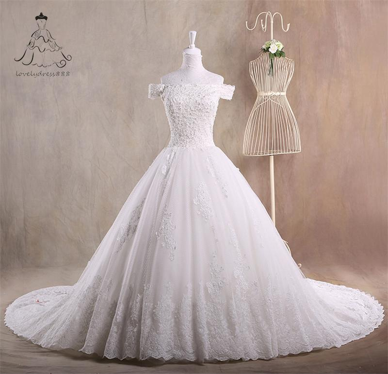 Custom Size Ball Gown Tulle Lace Short Sleeves Romantic Puffy