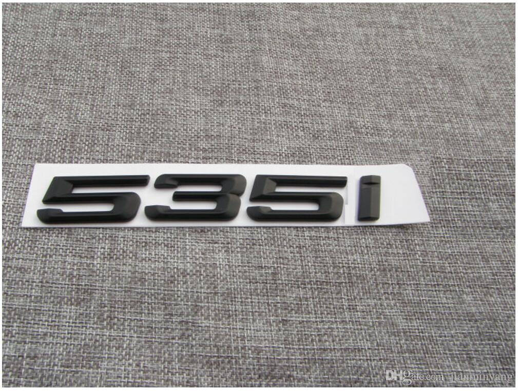 Black 535 I Number Trunk Letters Emblem Badge Sticker For Bmw 5