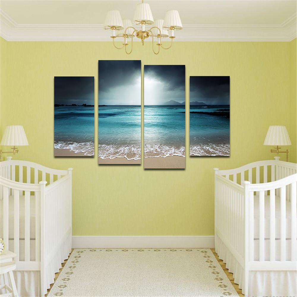 2018 Beach Painting Wall Art Picture Modern Home Decoration Living ...