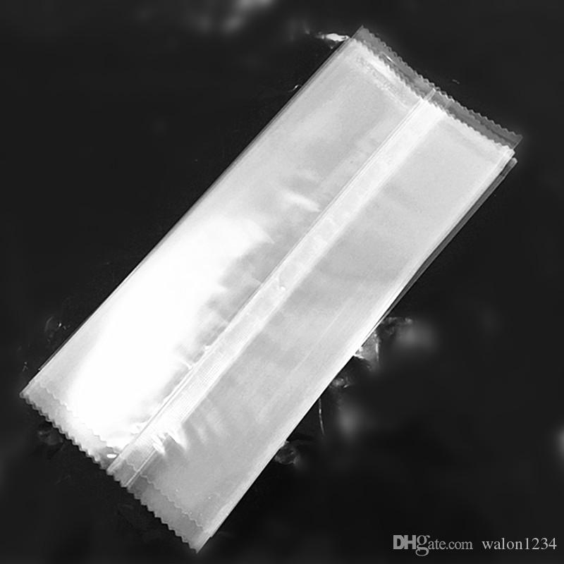 New Style Transparent Serrated Plastic Ice Cream Package Bag Food Opp Popsicle Package Pouch Baking Pack 3 sizes