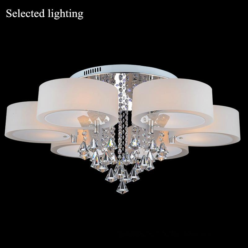 Multi Color Crystal Chandelier Remove Control Pendant Light Ceiling Led Lighting Foyer Fixture 110v 220v White Red