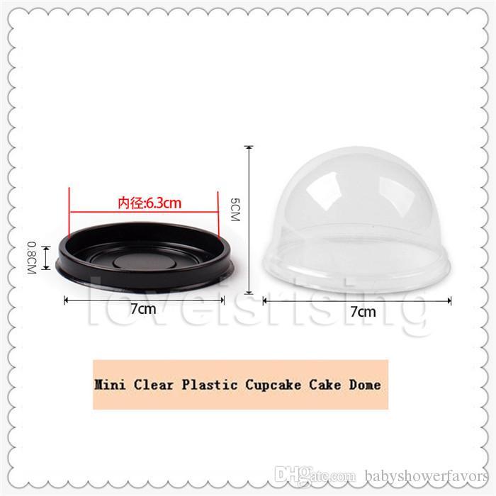 100 шт.=50 компл. мини размер пластиковые кекс торт купол кекс коробки контейнер свадьбы пользу коробки поставки-Бесплатная доставка