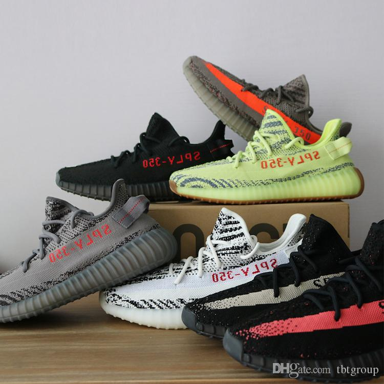 For sale online 2014 cheap sale 2018 Latest 350 V2 boost Semi Frozen beluga 2.0 triple white Zebra Bred Kanye West Running Shoes men Sneakers drop shipping fYq3wcNkn0