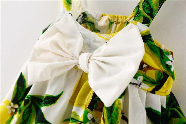 Limón sin mangas del bebé recién nacido faldas último diseño bebé niñas boutique vestido niño resbalón infantil falda princesa falda