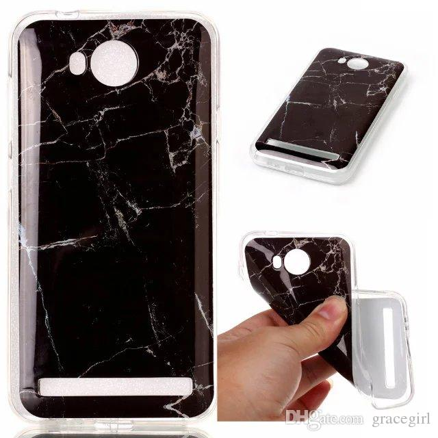Bling Marble Granite Rock Stone Soft TPU IMD Case For Huawei Honor 4C Y6 Y5 Y3 II P8 P9 Lite Lenovo A6000 Luxury Cell Phone Back Cover Skin