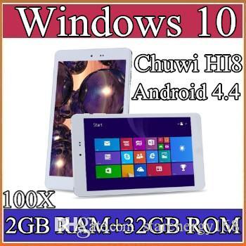 "100X Chuwi HI8 Tablet PC Dual OS Windows 10 & Android 4.4 Dual Boots Bay Trail Z3736F 2GB 32GB Quad Core 8"" 1920x1200 IPS BT OTG 2-8PB"