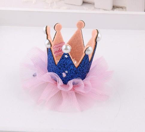 Детские девушки Lace Pearl Корона зажим для волос Мода Дети Barrettes корейских детей аксессуары для волос Маленькие девочки Birthday Party Wear зажимы волос