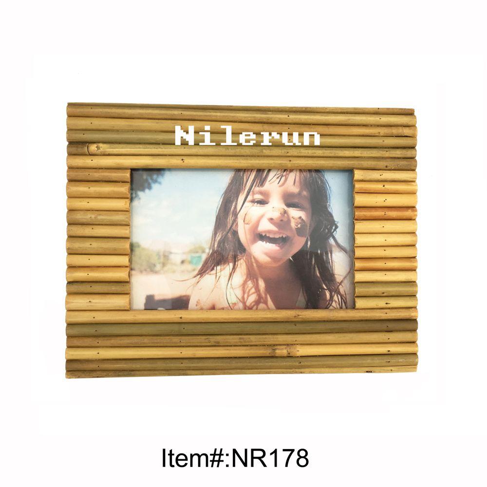 Compre Marco De Fotos De Bambú Para 4x6 Pulgadas A $3.82 Del Nilerun ...