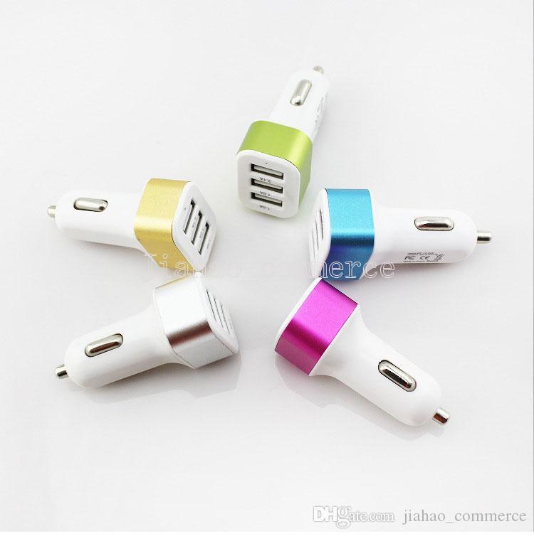 스마트 폰, 휴대 전화, 안드로이드 전화 들어 자동차 충전기 트래 버 어댑터 자동차 플러그 뜨거운 판매 트리플 3 USB 포트 차량용 충전기 패키지없이