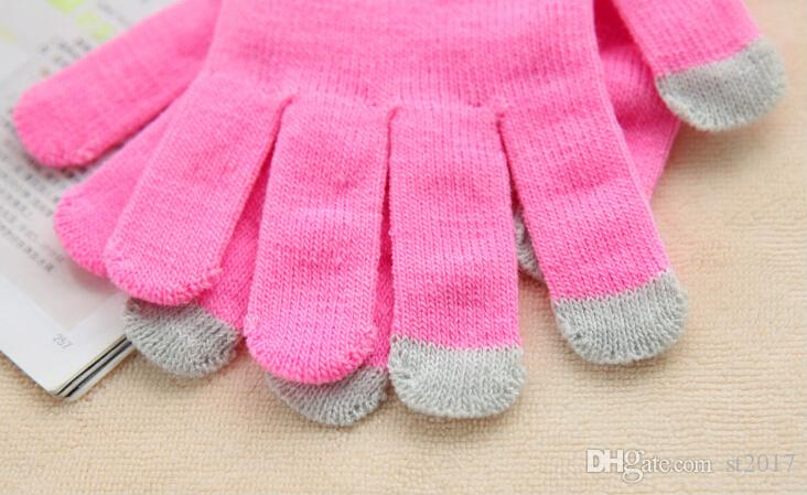 Fashion Winter warm touch gloves Cotton capacitive screen conductive glove for iphone X 87 6 6S plus Samsung S8 note 8 ipad air