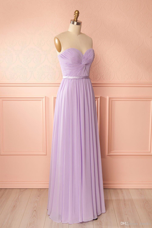 Light Purple Bridesmaid Dresses Cheap Sweetheart Sleeveless Pleats Chiffon Long  Wedding Guest Dress Lace Up Zipper Back Cheap Teal Bridesmaid Dress Black  ... ce393b48eb12