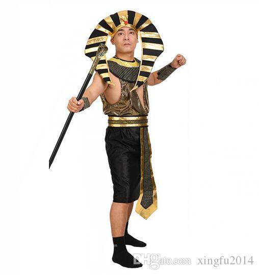 Acheter Egypte Princesse Costumes 2017 Nouveau Pharaon égyptien