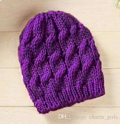 2016 Unisex Lady Womens Mens Knit Baggy Beanie Crochet Beret Hat Ski Cap Hemp flowers Hat Winter warm cap