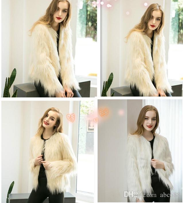 Caldo Fsahion Long Women Faux Fur Vest Faux Fur Coat Gilet in pelliccia di volpe Colete Feminino Plus