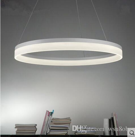 Led Contracted Acrylic Study Circular Pendant Lamps Modern Creative Restaurant Dining Room Bedroom Shop Lighting And Lanterns 9 Pendants Lights