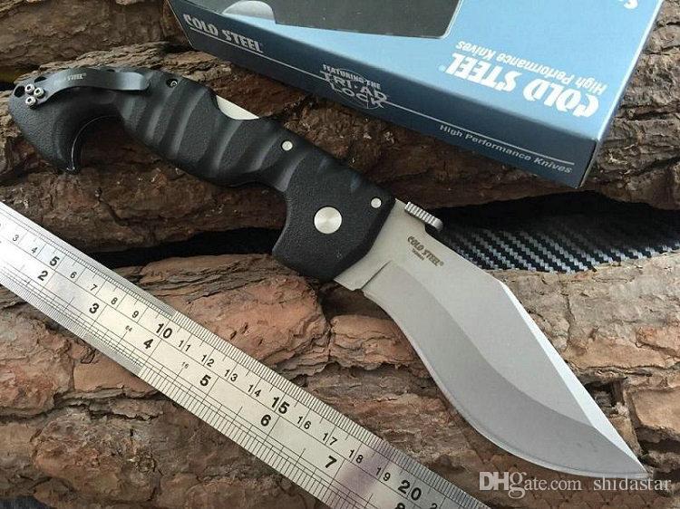 ACIER FROID Spartan Dogleg Couteau Pliant Aus-8 Lame Grivory Poignée Tactique Camping Chasse Survie Couteaux Xmas EDC Outils Collection