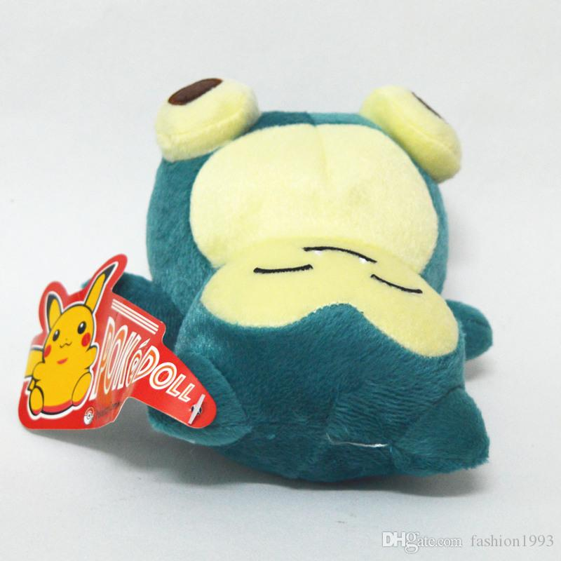 New Cute Pocket Monster Snorlax Stuffed Plush Toys Doll 15cm 6inch Cartoon Animal Figure Toys For Baby Gifts